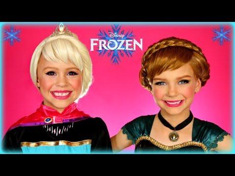 Disney's Frozen Elsa and Anna Coronation Makeup Tutorial