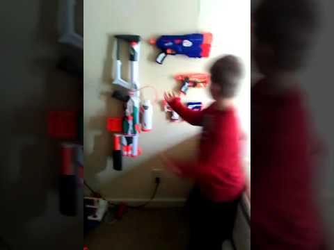 How I mounted my nerf guns on the wall