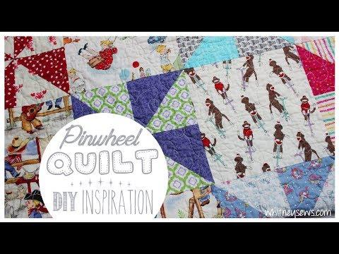 Pinwheel Baby Quilt   DIY Inspiration   Whitney Sews