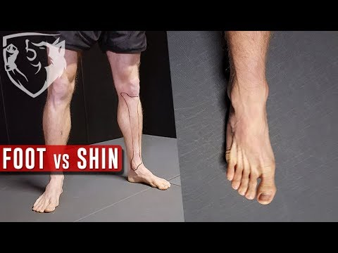 Foot or Shin? Roundhouse Kick with Which Part of the Leg?