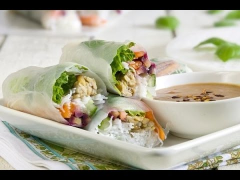 Fresh Thai Spring Rolls - Low Fat Vegan