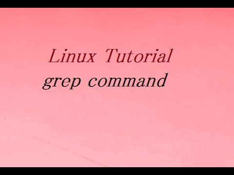 grep command in linux / unix