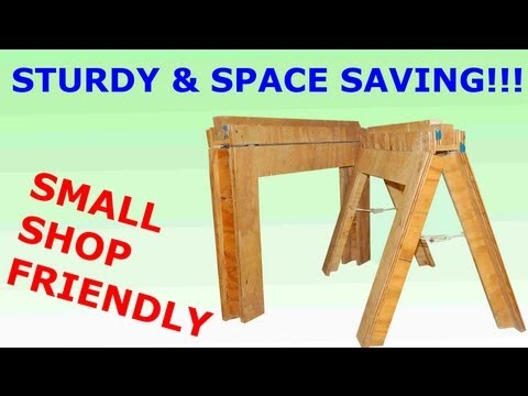 How to Build Folding Sawhorses DIY