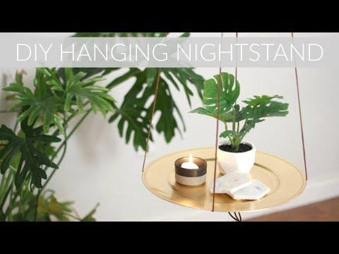 DIY HANGING TABLE OR FLOATING NIGHTSTAND    Katie Bookser
