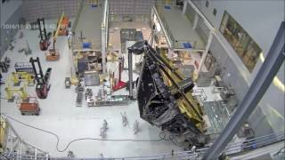 Time-lapse: Updated Webbcam View of James Webb Space Telescope Lift and Rotation