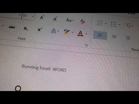 HOW TO DO THE RUNNING HEAD FOR APA FORMAT IN MICROSOFT 2013! VERY EASY AND SIMPLE!