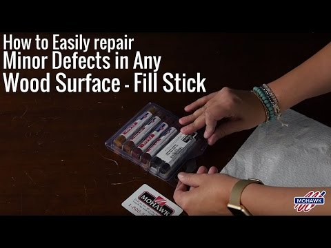 How to Easily Repair Minor Defects in Any Wood Surface - Fill Stick