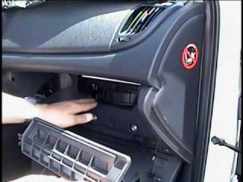 Kia Forte  2012  EX Sedan  changing the cabin filter