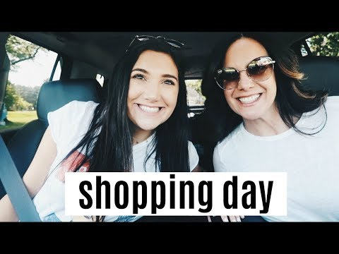 vlog: shopping day + prep for my internship with mom!