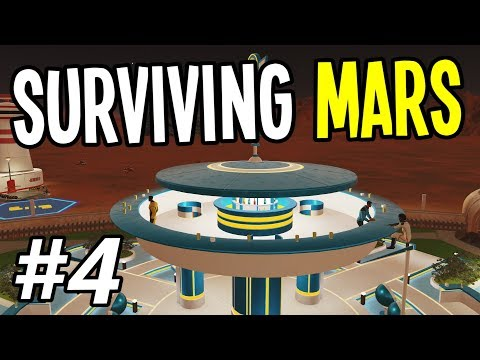 Surviving Mars - SPACE BAR, DINER and JOBS!! - Surviving Mars Gameplay Playthrough - Ep. 4