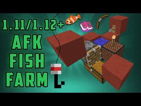 Minecraft 1.11/1.12+ AFK Fish Farm [Redstoneless] [Semi-Silent] [CC]