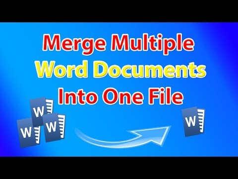 How to merge multiple word documents 📝 into one file📂?