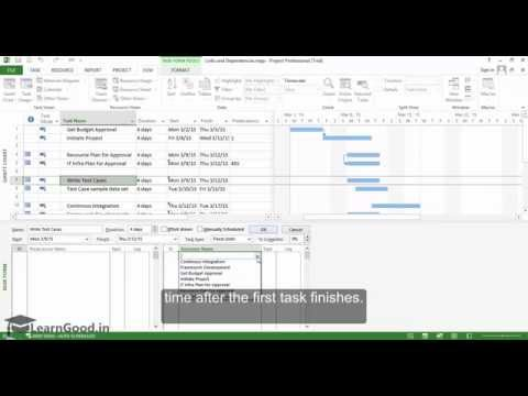 MS Project: Links and Dependencies: FS, SS, FF, SF - Part 18 of 55