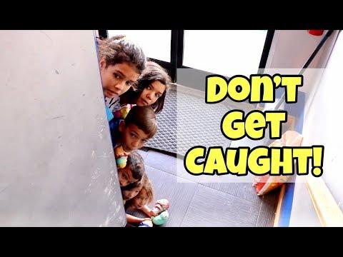WE SNUCK INTO THE NINJA KIDZ DOJO!  don't get caught!