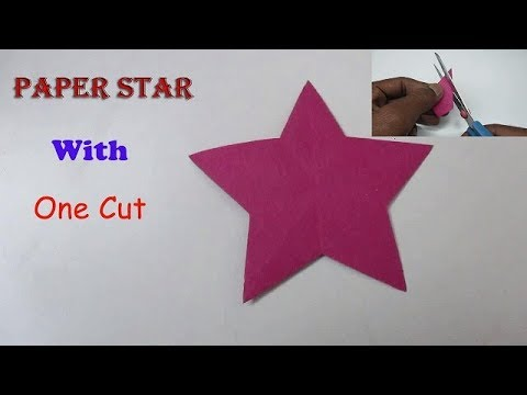 Paper Star - How to make a Five Pointed Star with One Cut
