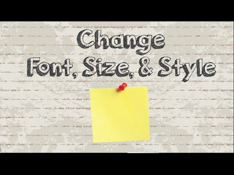 How to change Sticky Notes font, size, and style