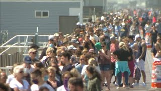 Beach badge sale draws large crowd to small NJ shore town