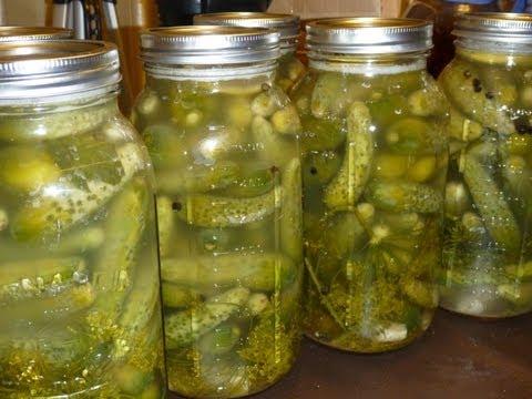 Naturally Fermented Dill Pickles Recipe - Рецепт Малосольных Огурцов