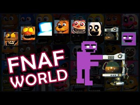 FNAF World 1.2 - Unlock ALL CHARACTERs | Secret Mini Games