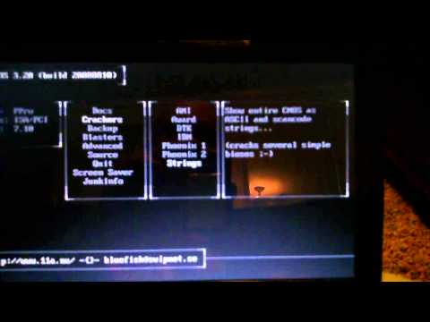 Cracking or revealing the BIOS password on your laptop using the Hiren's Boot CD 15.2