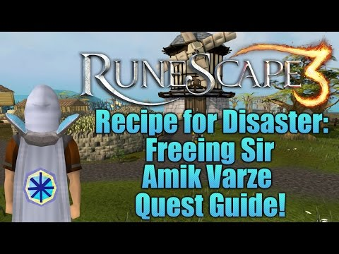 Runescape 3: Recipe for Disaster: Freeing Sir Amik Quest Guide!