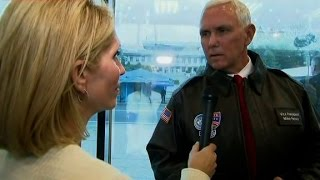 Dana Bash interviews VP Pence at DMZ