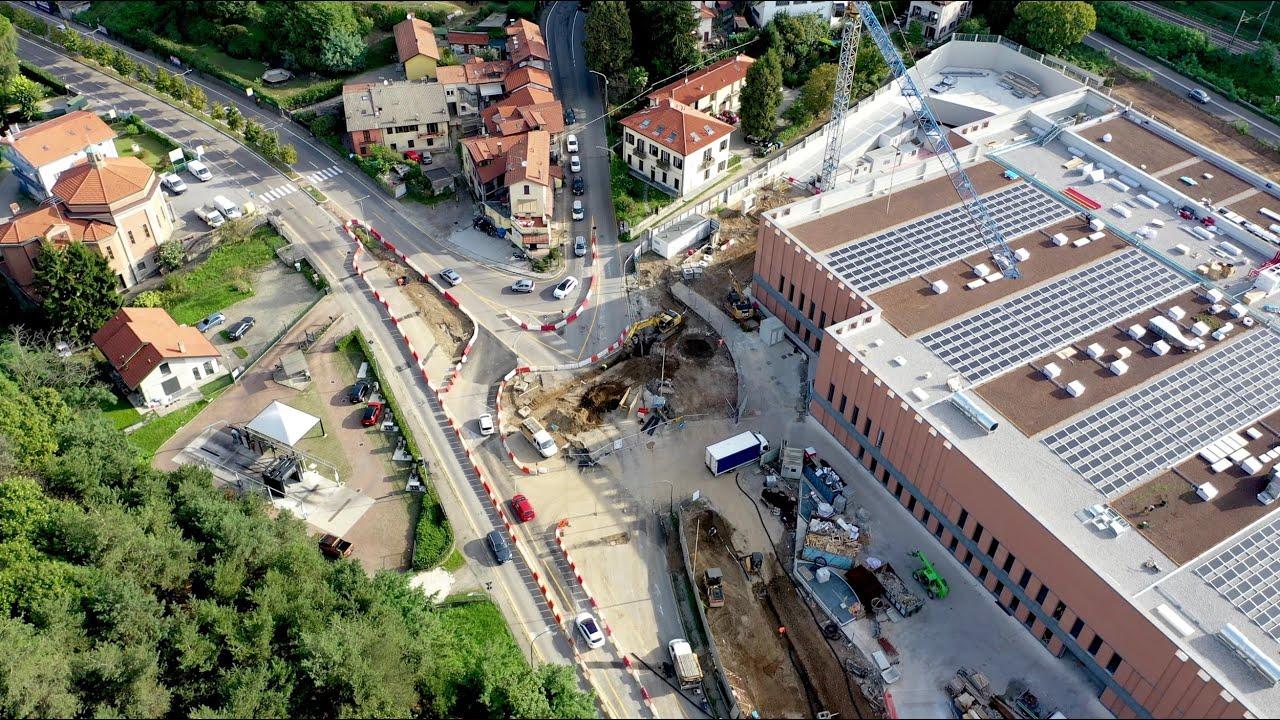 I lavori nell'area della nuova Esselunga di Varese