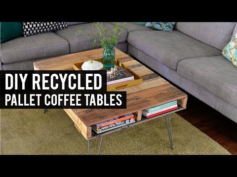 DIY  Pallet Coffee Tables