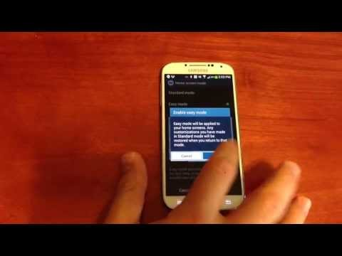 How To Turn on Easy Mode on the Samsung Galaxy S4