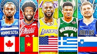 BEST NBA PLAYER FROM EACH COUNTRY IN 2020