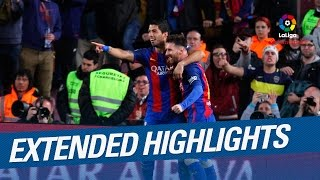 Extended Highlights Messi strikes twice against Valencia