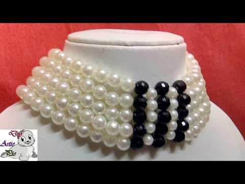 #28 How to make Pearl Beaded Choker || Diy || Jewellery Making