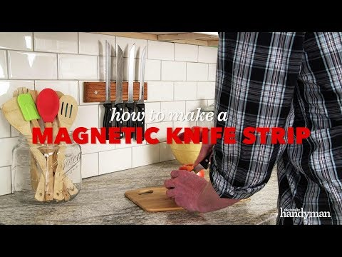 How To Build A Magnetic Knife Strip - Saturday Morning Workshop
