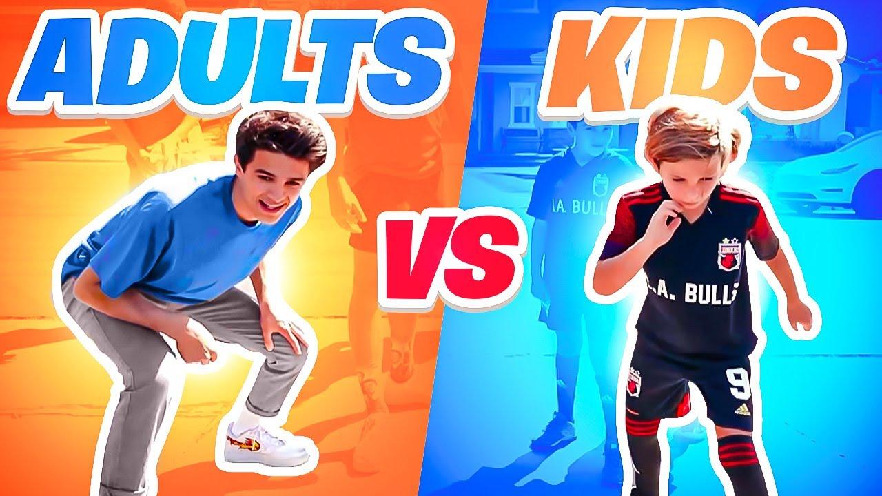 ADULTS vs KIDS   Sports Challenge