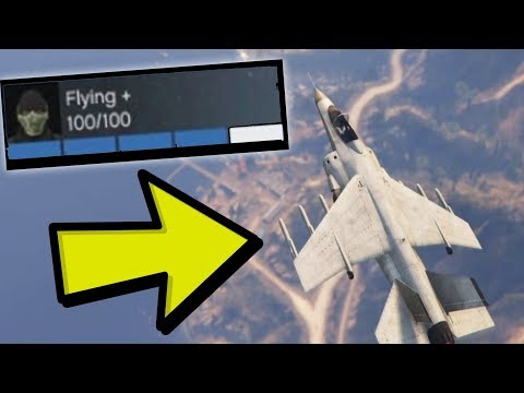 GTA 5 - How to get Max Stats in Flying in GTA 5 Online (Very Easy)