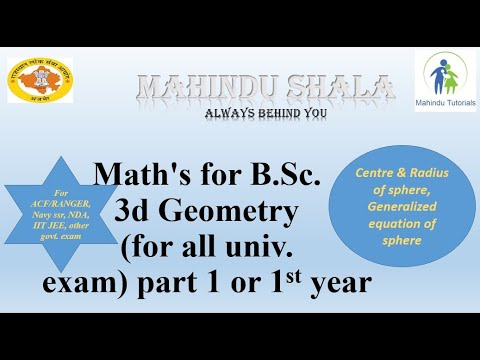centre and radius of sphere