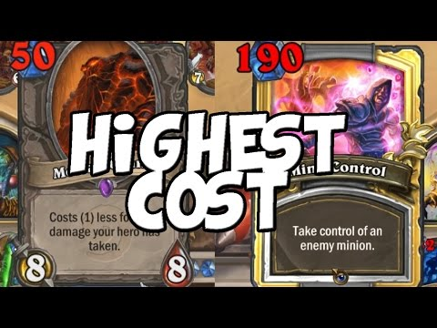 Most Expensive Hearthstone Minion and Spell