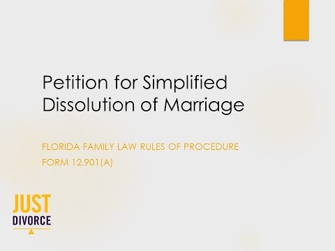 How to File a Petition for Simplified Dissolution of Marriage in Florida (FL Simplified Divorce)