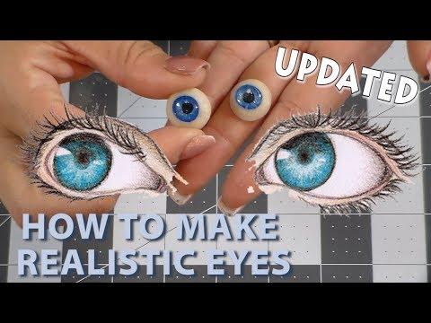 HOW TO MAKE CLAY EYES TUTORIAL  | CLAY CRAFT  DIY | Doll eyes | Cup n Cakes Gourmet