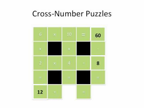 Multiplication:  Cross Number Puzzles