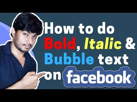 How to use Bold Text on Facebook Post?
