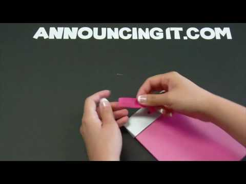 How to Make a Flat Bow Invitation