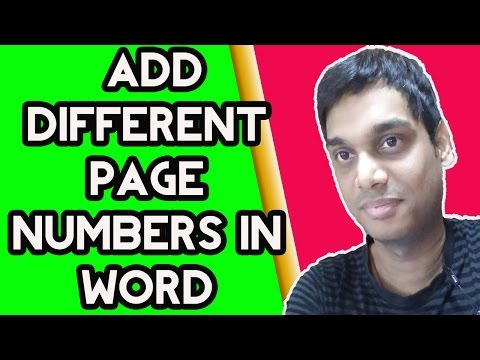 How to add Different Page Numbers in word for sections | Easy method | Helping Abhi