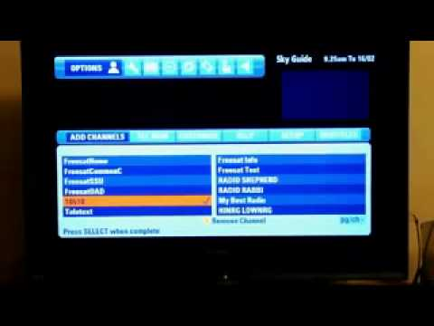Tuning ITV's HD channel into your SKY HD set-top box