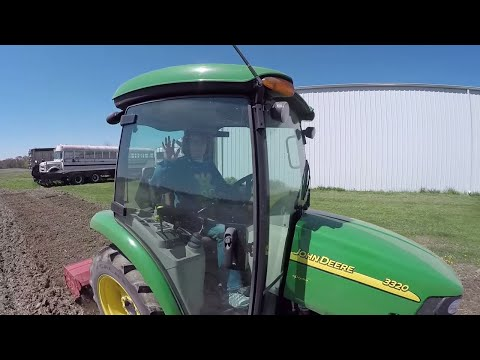Sweet Corn Planting! Tilling with John Deere 3033R/3320 and Planting with JD 8410