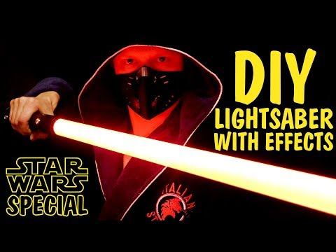 DIY LightSaber with light and sound effects