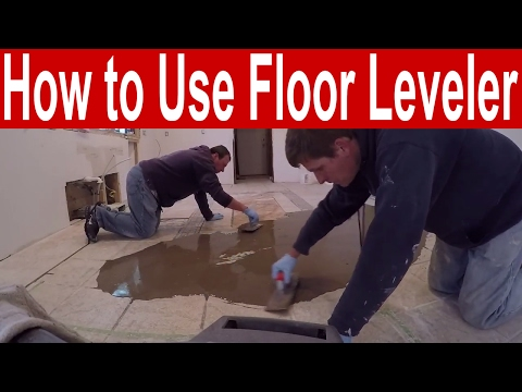 How to use floor leveler to fill low spots before laying new flooring