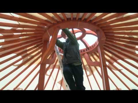 Yurt installation