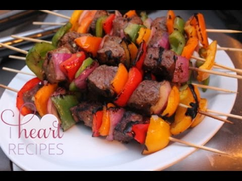 Grilled Sirloin Steak Kabobs / Kebabs - I Heart Recipes