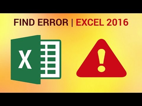 How to Find Formula Error in Excel 2016